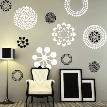 Prettifying Wall Decals From Trendy Wall Designs Wall Decals For Bedroom Modern Wall Decals Modern Wall Stickers