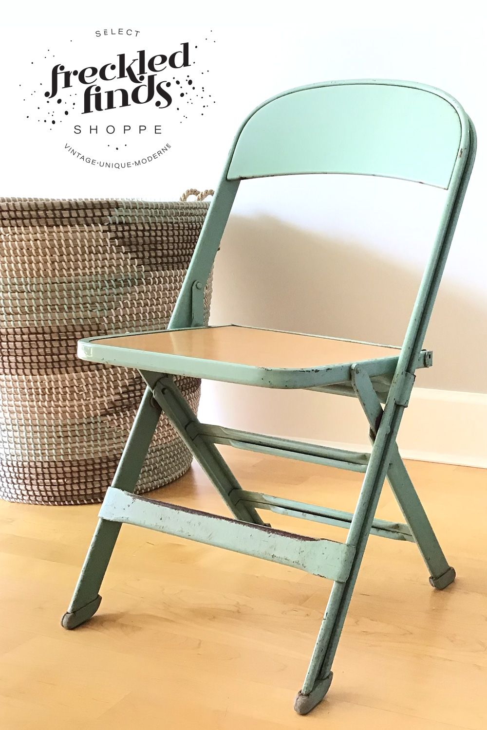 Awe Inspiring Vintage Kids Metal Folding Chairs Seafoam Green Pair Caraccident5 Cool Chair Designs And Ideas Caraccident5Info