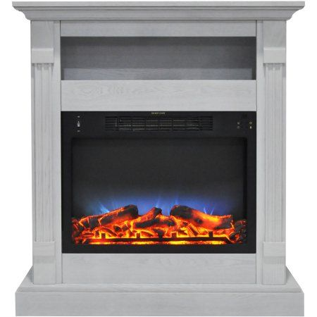 Home Improvement Electric Fireplace White Mantel Free Standing