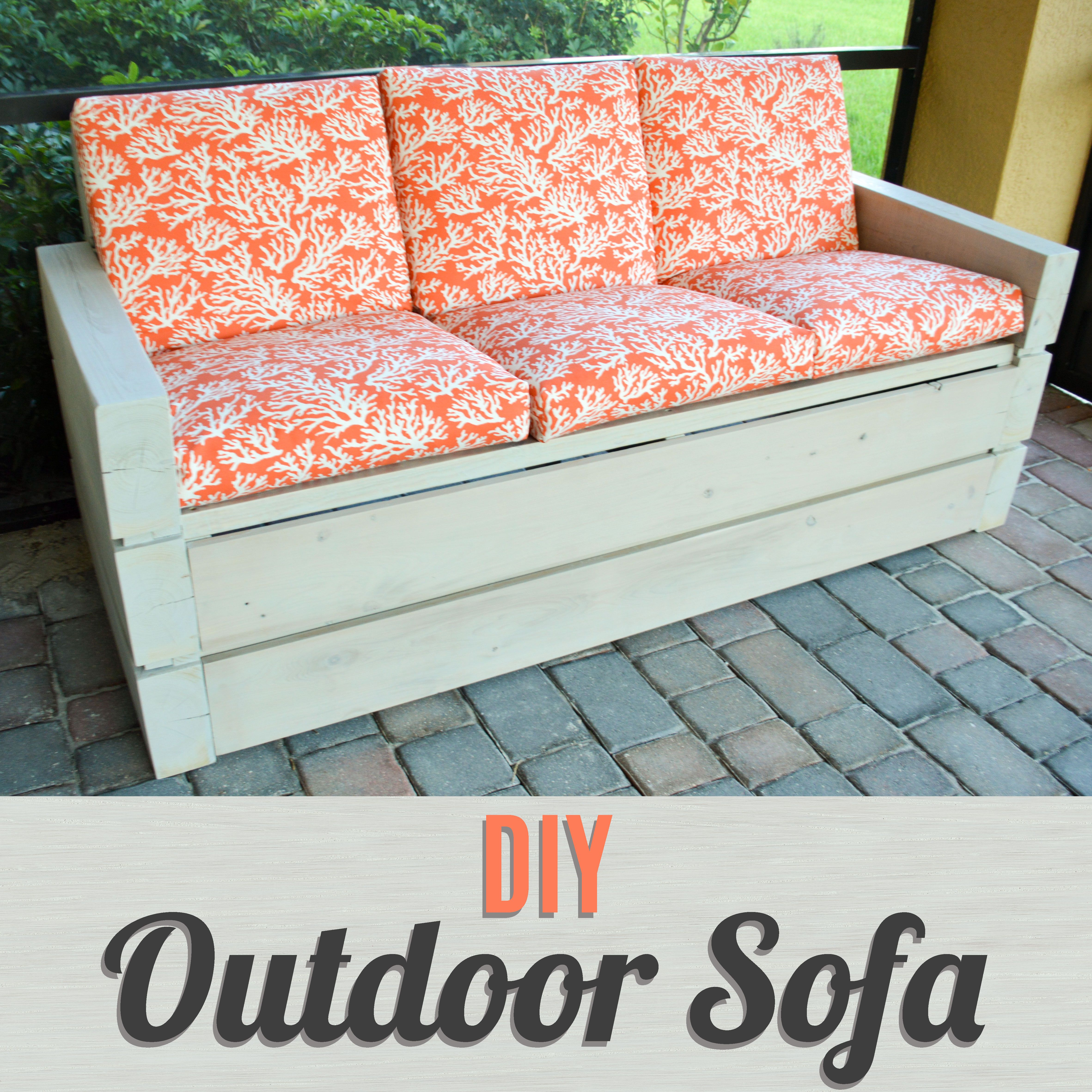Build your own outdoor furniture with this diy outdoor for Build outdoor sectional sofa