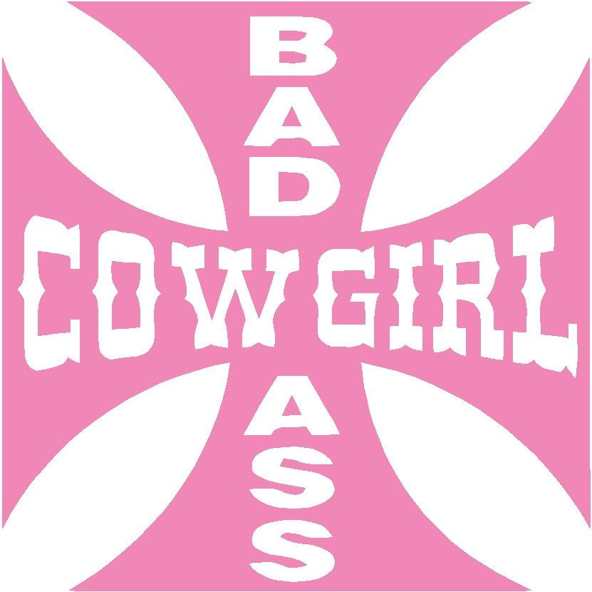 Decal Sticker Cut Vinyl Car Truck Jeep Country Bad Ass Cowgirl - Badass vinyl decal stickers