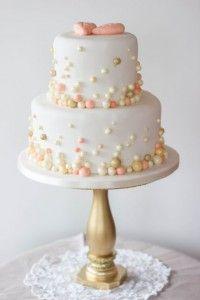 V Hochzeitstorte Perlen Apricot Gold Hochzeitstorten