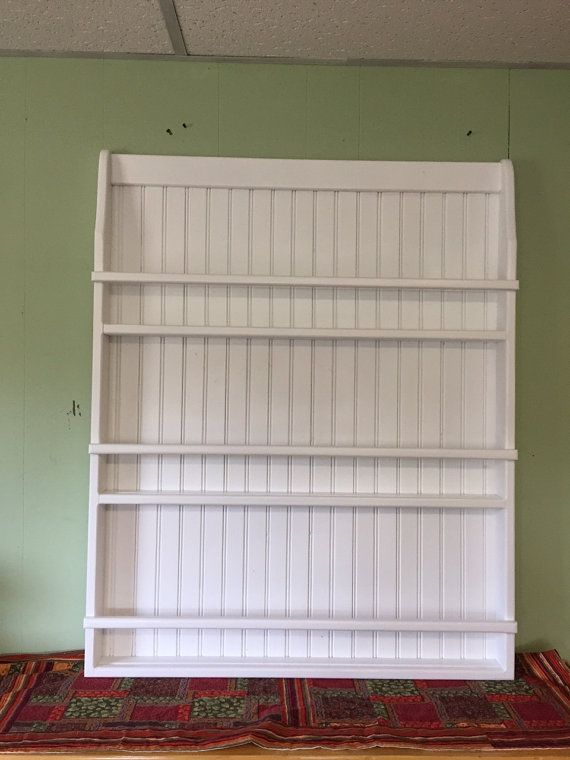 This Is A Solid Pine Hand Crafted Plate Rack Or Bookshelf For Your Childs Room It Is 40 Inches Tall 32 Inches W Wall Bookshelves Plate Racks Wood Wall Hanging