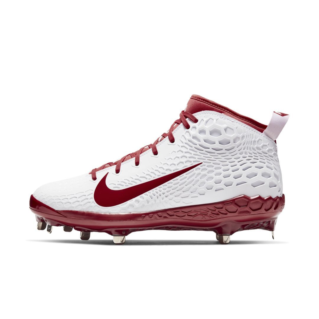 7c912bf558a2 Nike Force Zoom Trout 5 Men s Baseball Cleat Size 7 (White)