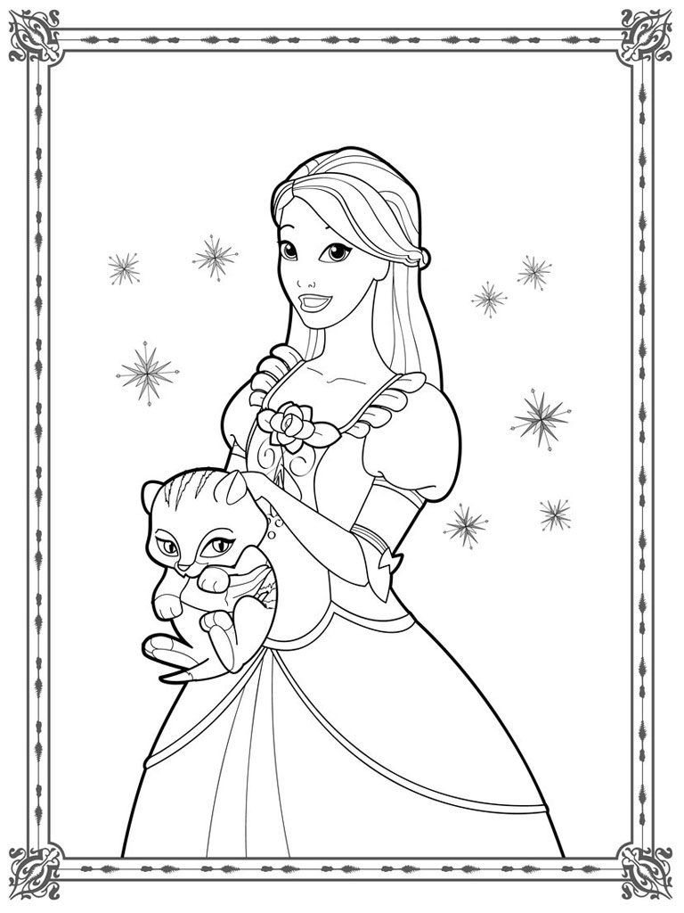 Princess Coloring Pages | Princess coloring pages, Barbie ...