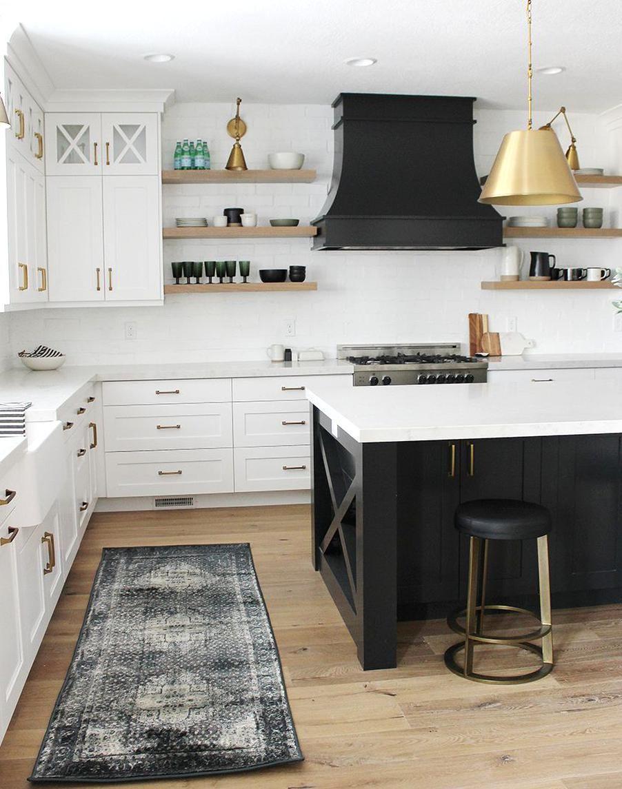 Sita Montgomery Interiors Dutch Lane Project Kitchen Reveal Modern Farmhouse Kitchen In 2020 Kitchen Design Black Kitchens Kitchen Renovation