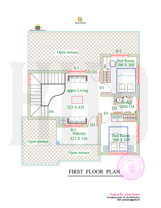 4bhk Floor Plan And Elevation In 5 Cent Floor Plans Kerala House Design Floor Plan Design