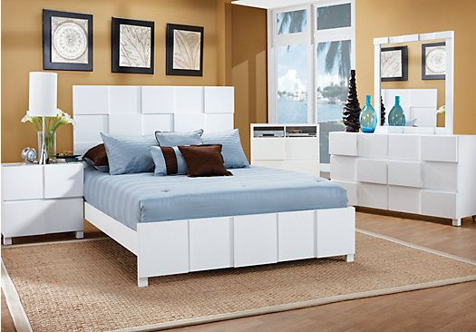 white bedroom furniture king. Simple Furniture Roxanne Queen White 7Pc Panel Bedroom  Sets On Furniture King