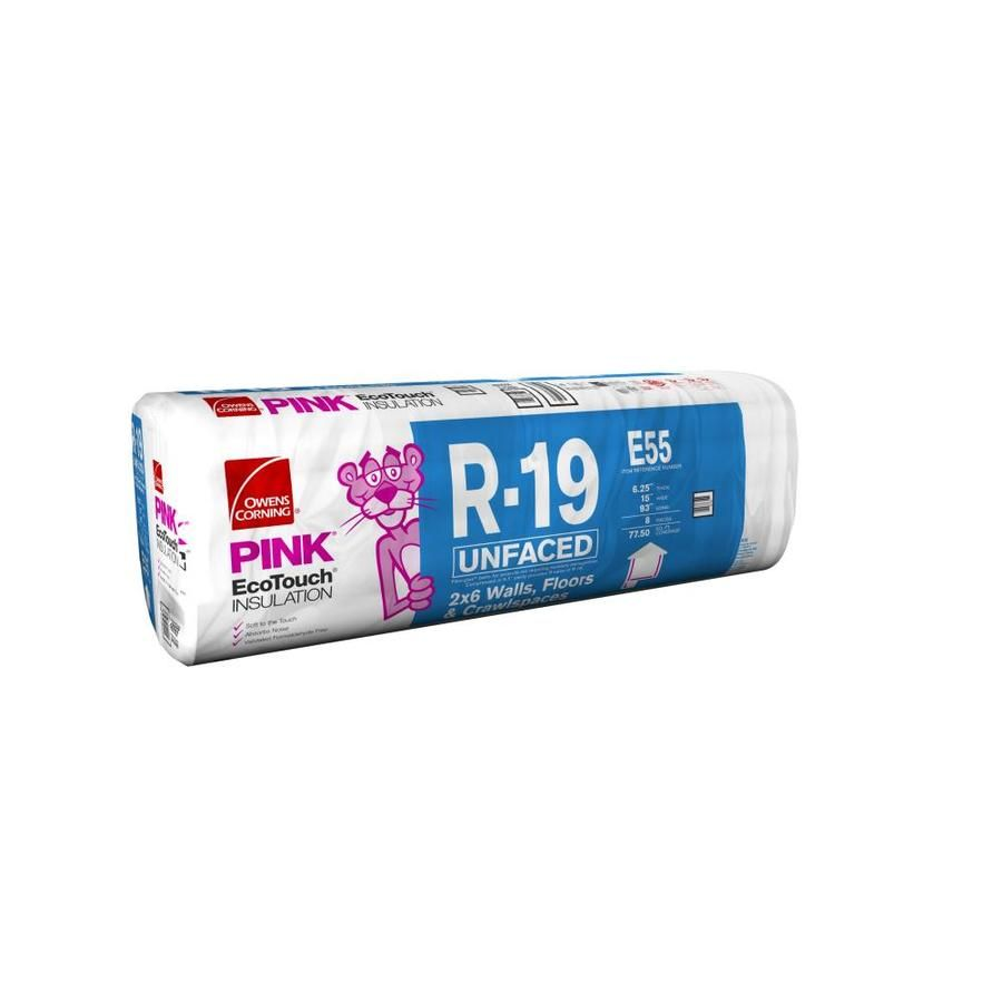 Owens Corning R 19 Fiberglass Batt Insulation With With Sound Barrier 23 In W X 48 In L At Lowes Com In 2020