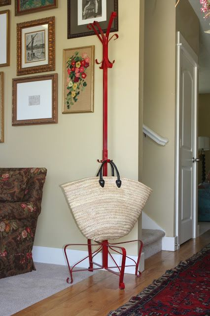 ikea hack ikea portis hat and coat stand spray painted red