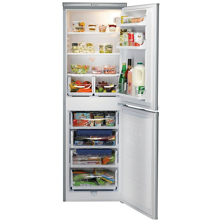 Buy Hotpoint RFAA52S Fridge Freezer, A+ Energy Rating, 55cm Wide, Silver Online at johnlewis.com