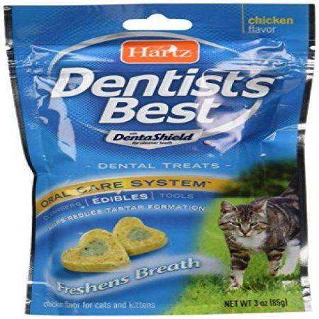 Hartz Dentist S Best Dental Cat Treats 3 Oz Walmart Com Cat Treats Dental Treats Chicken Flavors
