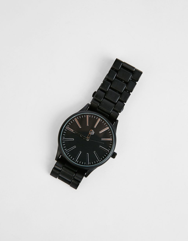14fd1aa4ac76 Reloj metálico negro - Novedades - Bershka Colombia