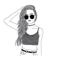 Resultado De Imagen De Dibujos Faciles De Chicas Tumblr Dibujos De