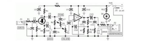 Mini Guitarbass Amplifier Circuit Diagram   #1 Wiring