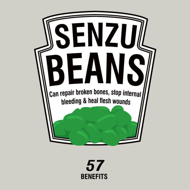 Senzu Beans is a T Shirt designed by tombst0ne to illustrate your life and is available at Design By Humans