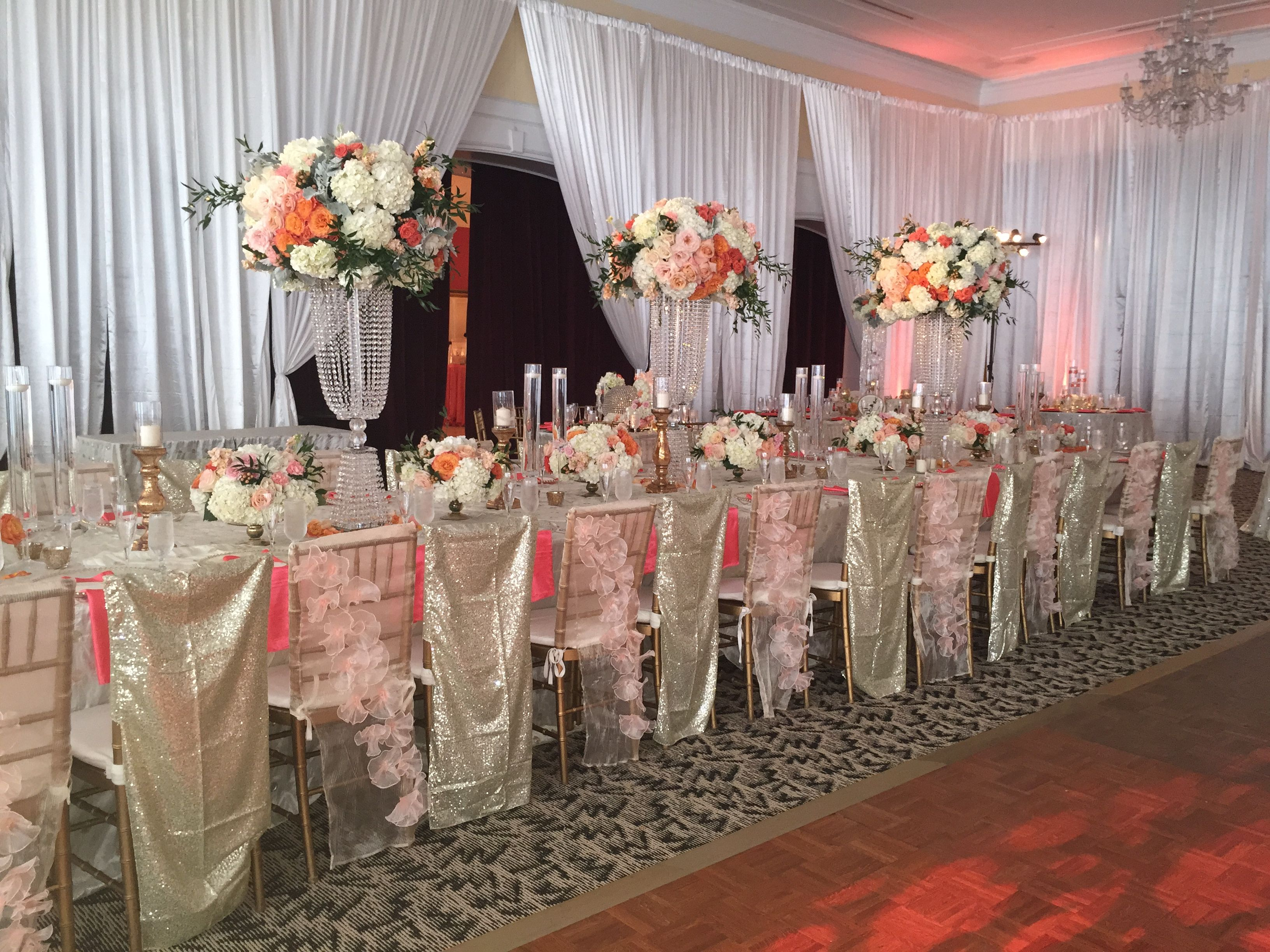 Beautifully Decorated Wedding At Foxchase Manor In Manassas Va