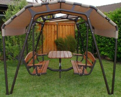 Love This Swing Idea Patio Swing Set Patio Swing Outdoor Glider