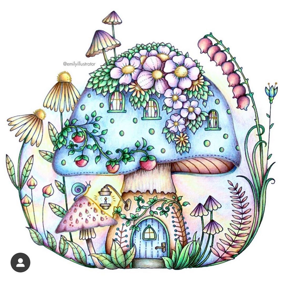 Johanna Basford On Instagram Colouring Psa Thank You All For Sharing Your Beautif Coloring Books Enchanted Forest Coloring Book Color Pencil Illustration