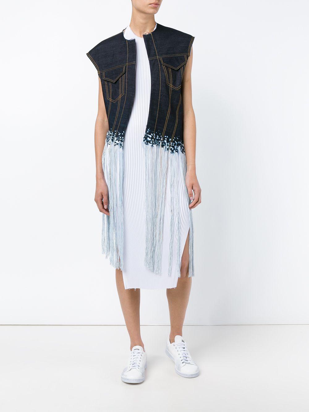 FAUSTINE STEINMETZ | Sleeveless Warp Float Denim Jacket | Womenswear | Browns Fashion