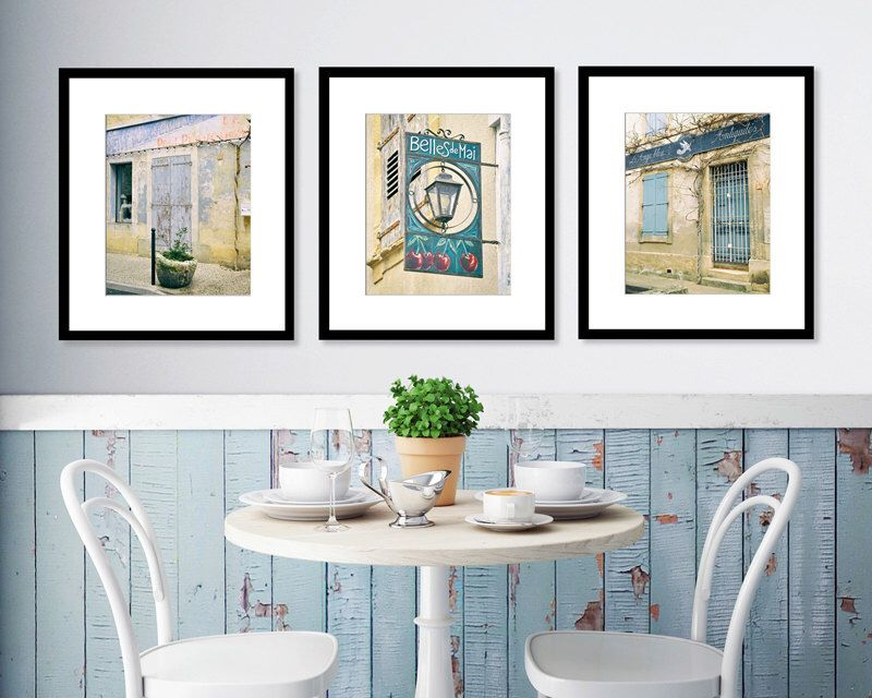 SALE Provence Photography Print Set Shabby Chic French Blue