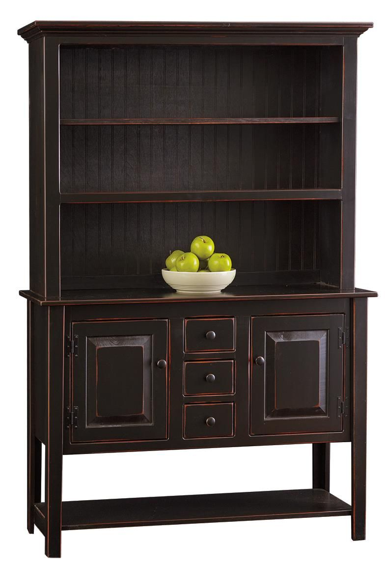 Amish Pine Sideboard Hutch | Pine sideboard, Pine and Small drawers