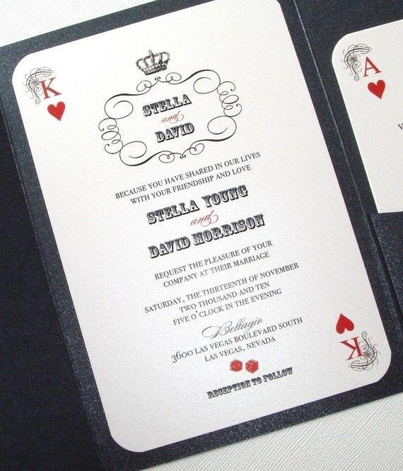 Casino Wedding Invitations: Las Vegas Wedding Invite Idea