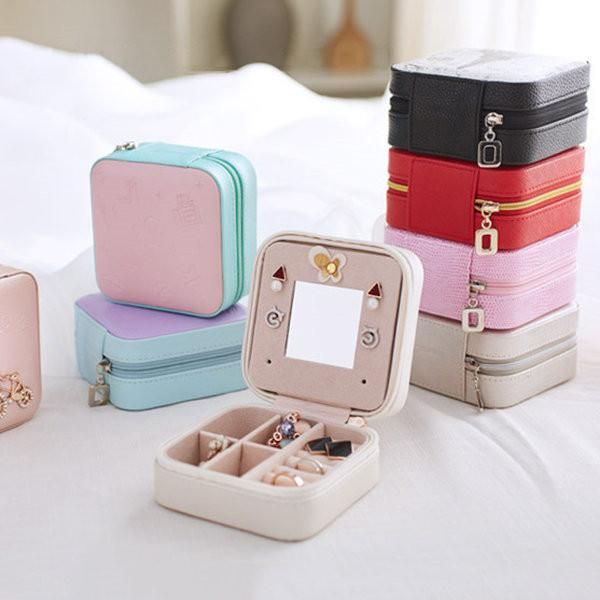 Portable Travel Jewelry Storage Box Leather Earring Rings Stoage Container #buy