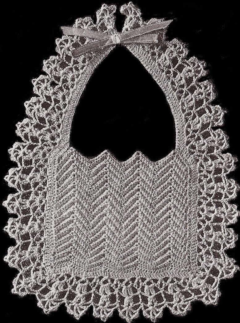 Vintage Crochet Baby Bib Pattern Christening Fancy