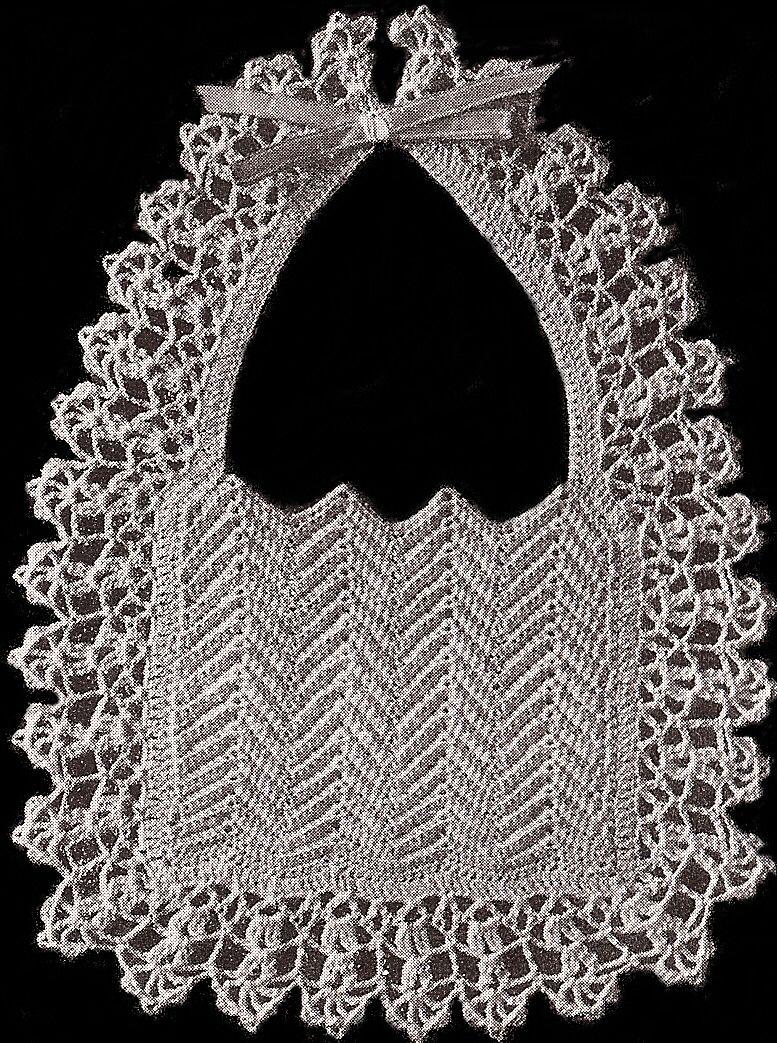 Vintage crochet baby bib pattern christening fancy crochet vintage crochet baby bib pattern christening fancy bankloansurffo Image collections