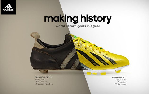 the latest f280e 50752 Bonita grafica de  Adidas reforzando su branding.  Messi vs  TorpedoMuller