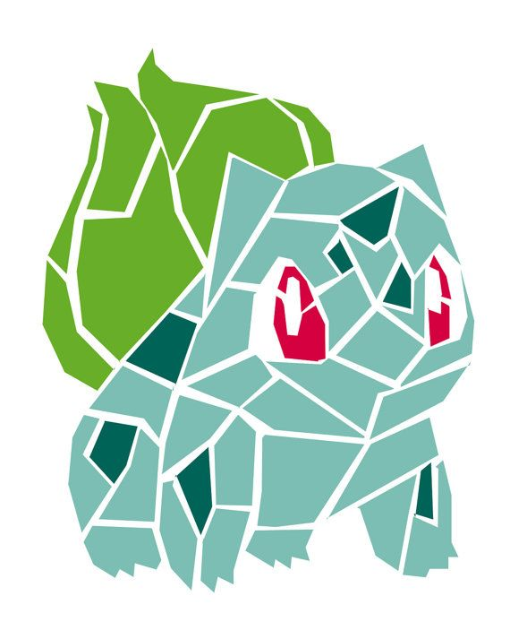 This digital file depicts the Pokemon Bulbasaur. The file would make a perfect addition to the decor of any Pokemon loving person!  This digital