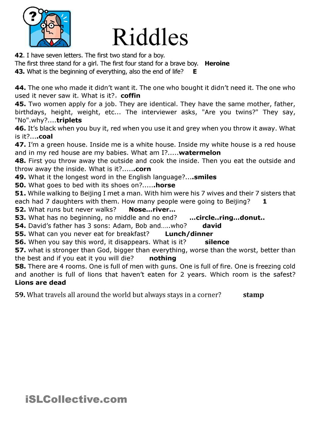 59 Riddles Jokes And Riddles Funny Riddles Riddles