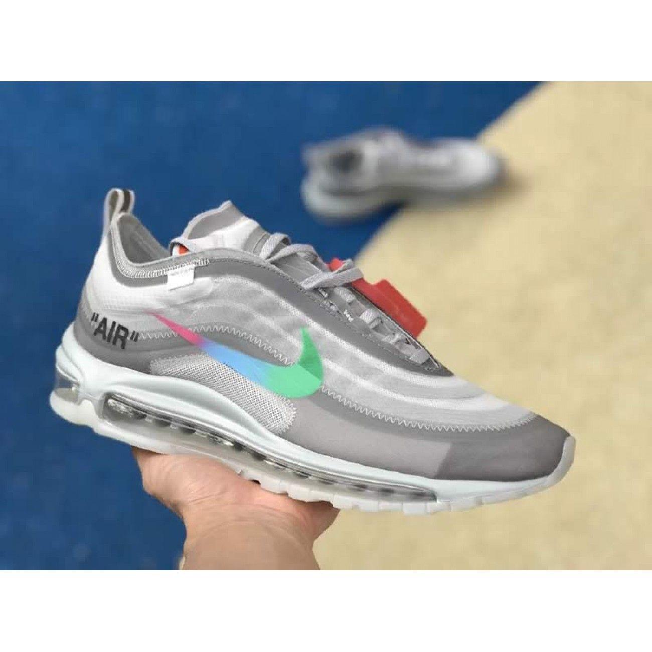 brand new edf85 79909 Off-White x Nike Air Max 97 Green Grey Mens Womens Shoes AJ4585-012