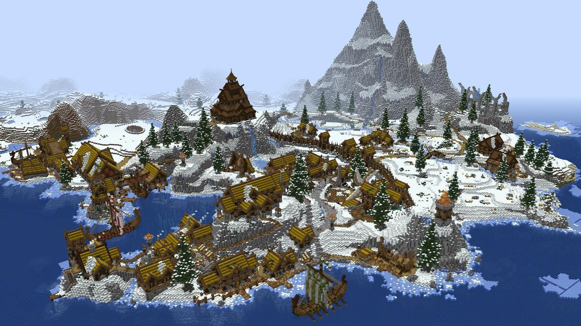 Minecraft viking village
