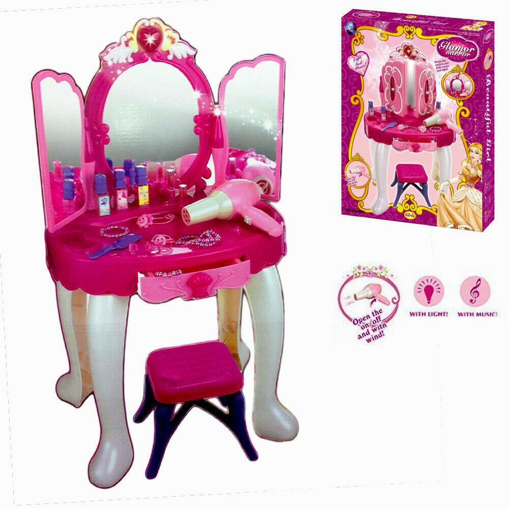 Details about girls dressing table with stool kids vanity