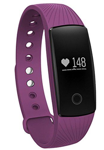 Sabuy Smart Band with Heart Rate Monitor Fitness Activity Tracker Sleep Counter Wireless Pedometer Wristband Sweatproof Sports Bracelet Purple ** Find out more about the great product at the image link.