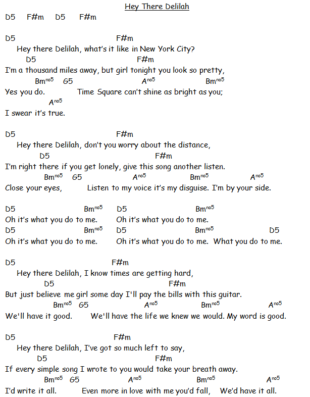 hey there delilah chords - Yahoo Image Search Results | Grandkids ...