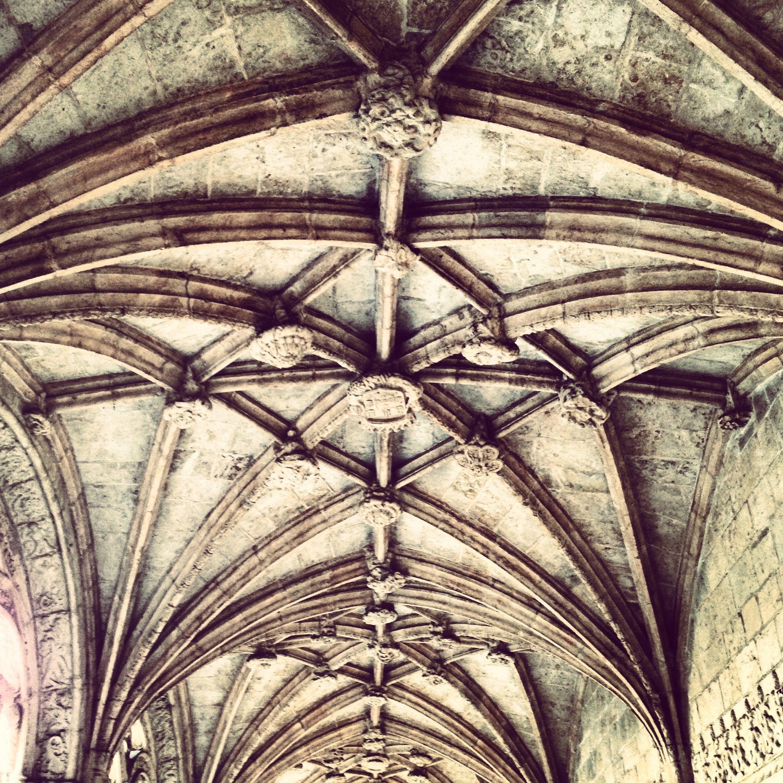 Pormenor do tecto do claustro do Mosteiro dos Jerónimos, Lisboa
