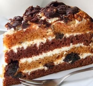 Chocolate And Golden Vanilla Layer Cake Recipe from The Japanese Kitchen