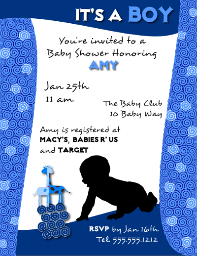 Download A Baby Shower Invitation Flyer Template For A Boy Created