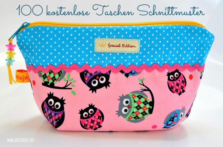100 tolle Taschen-Schnittmuster | Pinterest | Schnittmuster ...