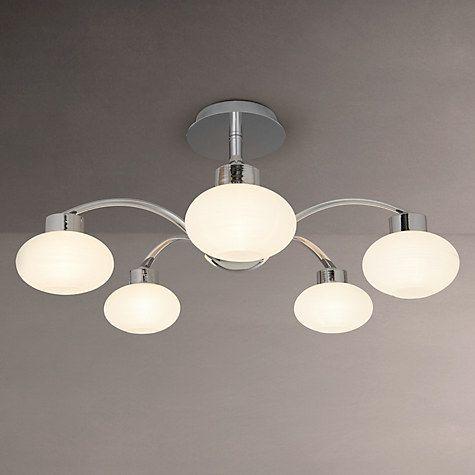 Buy john lewis roma 5 armed semi flush ceiling light chromewhite buy john lewis roma 5 armed semi flush ceiling light chromewhite online aloadofball Images