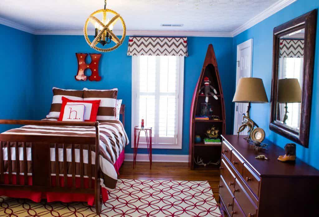 Decorating Ideas For Bright Blue Home Walls Bright Blue Bedrooms Blue Bedroom Walls Blue Bedroom Decor