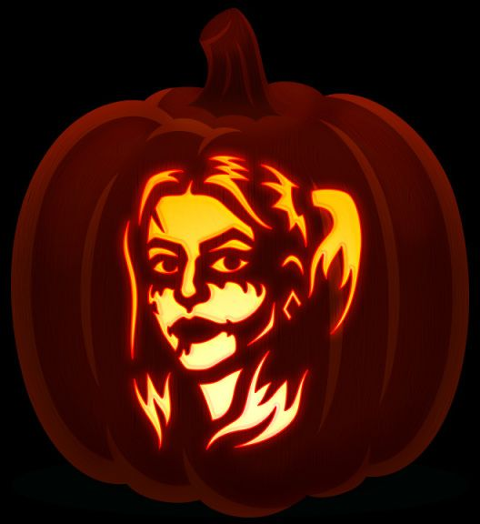 harley quinn pumpkin template  Pin on Harley fucking Quinn