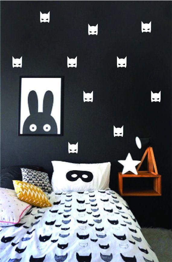 Batman Mask Wall Decals Superhero Bat Mask Wall Stickers Batman