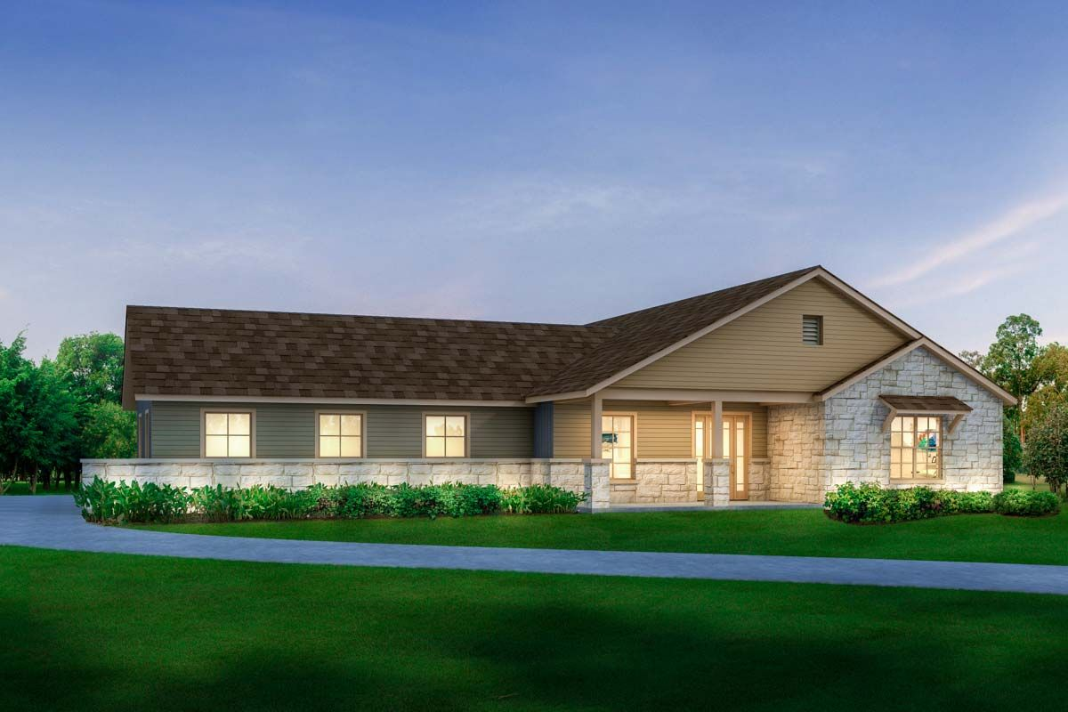 Plan 430017LY: Handsome Modern Texas Ranch House Plan ...