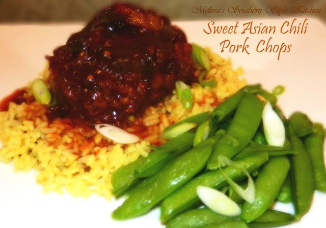 Melissa's Southern Style Kitchen: Slow Cooked Sweet Asian Chili Pork Chops