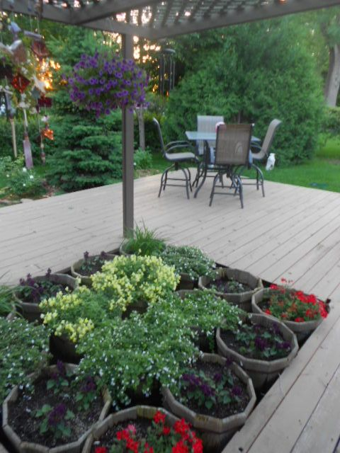 Do You Have A Hole In Your Deck Where A Hot Tub Used To Be And Dont Want Another Hot Tub Just Fill It With Flo Hot Tub Garden Backyard Makeover