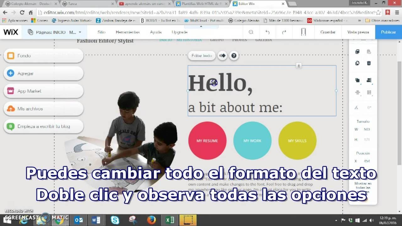 Lujo Reanudar Creando Sitios Viñeta - Ejemplo De Currículum ...